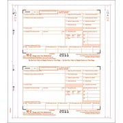 "TOPS® W-2 Tax Form, 4 Part, Continuous Employer Set, White, 9 1/2"" x 5 1/2"", 100 Forms/Pack"