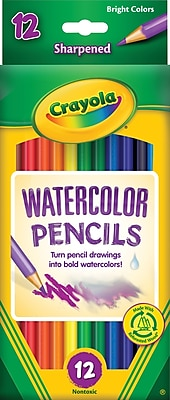 Crayola® Colored Pencils, Watercolor, 12/Box