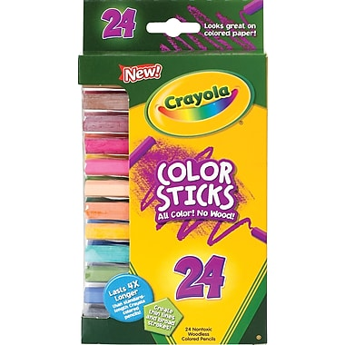 Crayola® 68-2324 Woodless Color Pencil, Assorted, 24/Pack