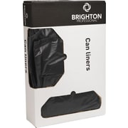 "Brighton Professional™ Recycled Can Liners, 45 Gallon, 1.3 mil, Black, 40"" x 46"", 100/Carton"