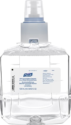 Purell® LTX™ Advanced Green Certified Hand Sanitizer, Refill, 1,200 ml., 2/Case