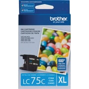 Brother LC75 Cyan Ink Cartridge, High Yield (LC75CS)