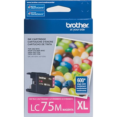 Brother – Cartouche d'encre magenta LC75M, haut rendement