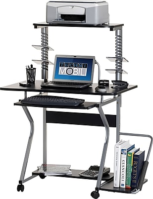 Techni Mobili Multi-Functional Mobile Workstation Computer Desk, Graphite