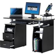 Techni Mobili Complete Computer Workstation Desk With Storage, Mahogany