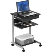 TechniMobiliMD – Chariot pour ordinateur portatif avec tiroir, gris ardoise