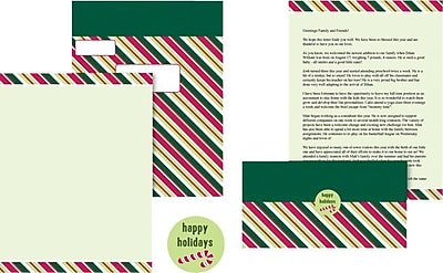 Great Papers! Candy Cane Stripes Self-Mailing Kit, 8 1/2