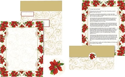 Great Papers Holiday Mailer Poinsettia Swirl , 50/Count 401052