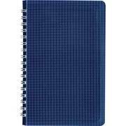 "Blueline Duraflex Poly Business Notebook, Blue, Durable and Flexible Textured Cover, 160 Pages / 80 Sheets, 9-3/8"" x 6"""