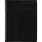 "Blueline Duraflex Poly Business Notebook, Black, Durable and Flexible Textured Cover, 160 Pages / 80 Sheets, 11"" x 8-1/2"""