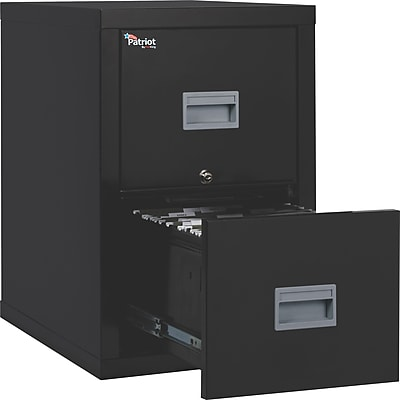 FireKing Patriot Vertical File Cabinet, Letter/Legal, 2-Drawer, Black, 25 1/16