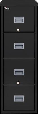 FireKing 4 Drawer Vertical File Cabinet Black, Letter (4P1831CBL)
