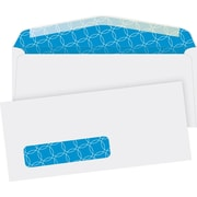 Quality Park® #10, Left Window Security-Tint Gummed Envelopes, 500/Box