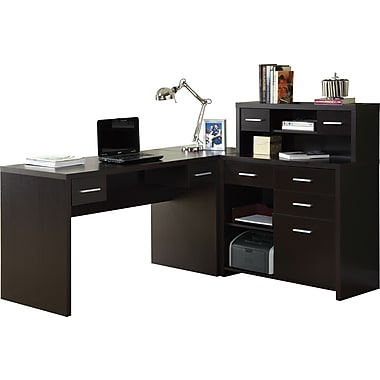 Monarch Specialties Reversible Work Center Cuccino