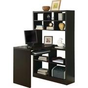 Monarch Specialties Reversible Storage Desk, Cappuccino