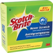 Scotch-Brite™ Never Scratch Soap-Loaded Scour Pads, 8-Pack