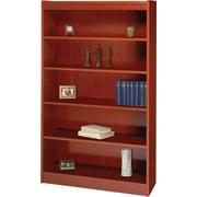 SAFCO Workspace Square Edge Veneer 5-Shelf Bookcase, Cherry