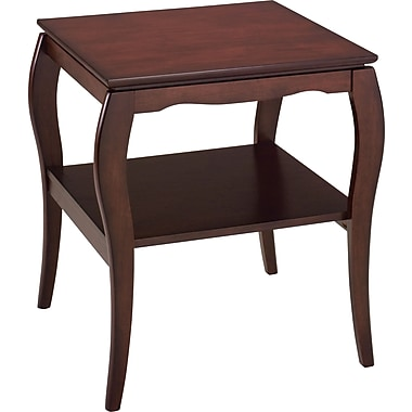 OSP Designs Pro-Line II™ Wood/Veneer End Table, Mahogany, Each (BN09MAH)