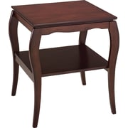 OSP Designs Pro-Line II™ Wood/Veneer End Table, Mahogany, Each (BN09MAH)