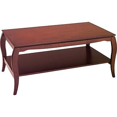 OSP Designs Pro-Line II™ Wood/Veneer Coffee Table, Cherry, Each (BN12CHY)