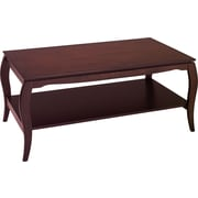 OSP Designs Pro-Line II™ Wood/Veneer Coffee Table, Mahogany, Each (BN12MAH)