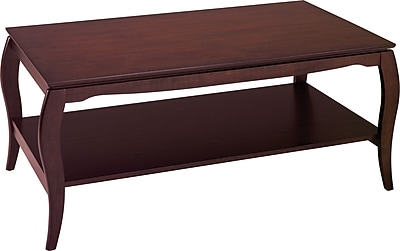 OSP Designs Pro-Line II™ Wood/Veneer Coffee Table, Mahogany, Each (BN12MAH)