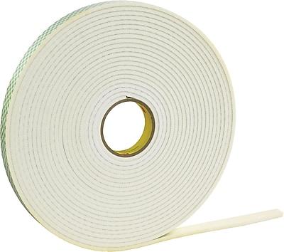 3M 4462 Double Sided Foam Tape, 1/2