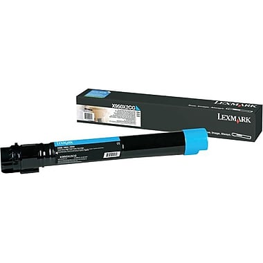 Lexmark X950, X952, X954 Cyan Toner Cartridge, Extra High Yield (X950X2CG)