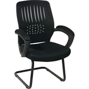Office Star™ Screen Back Guest Chair, Black Mesh Seat