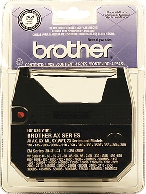 Brother 1430i Correctable Ribbon, 4/Pack