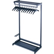 "Quartet 48"" Black 2-Shelf Garment Rack"