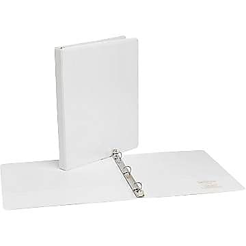 Simply .5-inch Round 3-Ring View Binder, White (21682)