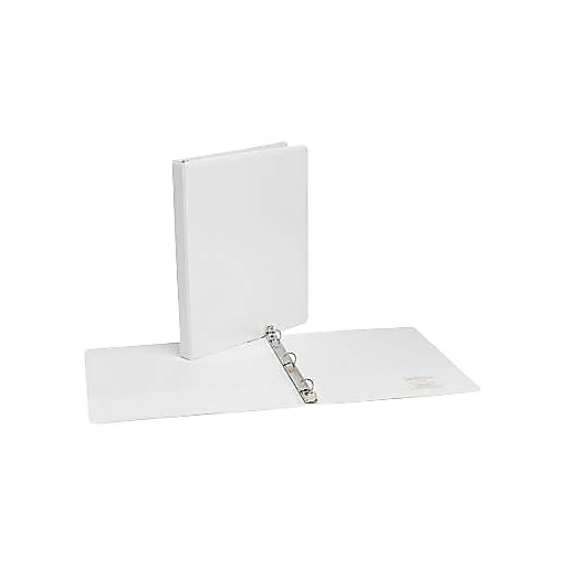simply 5 inch round 3 ring view binder white 21682 staples