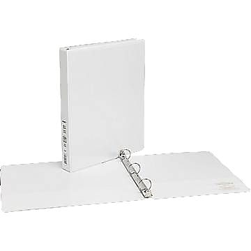 """1"""" Simply™ View Binders with Round Rings, White"""