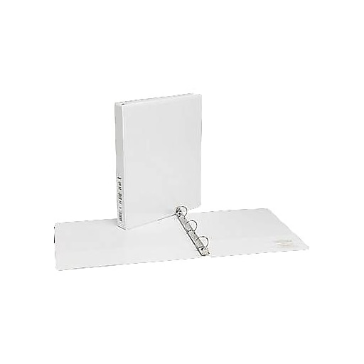 1 simply view binders with round rings white 12 pack staples