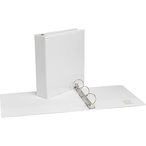 2 simply view binder with round rings white staples