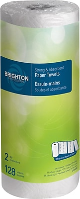 Brighton Professional™ Kitchen Roll Towel, 2-ply, Choose-Your-Size, 128 sheets/Roll, 15 rolls/case, (BPR-21809)