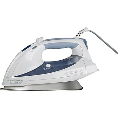 Black & Decker® All-Temp Steam® Iron, White/Blue