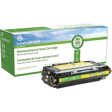 Sustainable Earth by Staples® Remanufactured Yellow Laser Toner Cartridge, HP 311A (Q2682A)