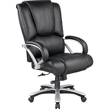 Staples Bosworth Bonded Leather Big and Tall Managers Chair, Black
