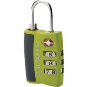 Samsonite® 3 Dial Travel Sentry Combination Lock, Neon Green