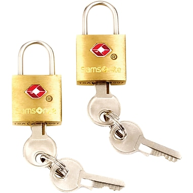 Samsonite® Travel Sentry Brass Key Locks, 2/Pack