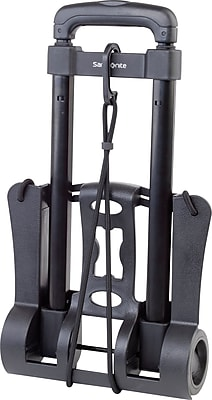 Samsonite® Polypropylene Compact Folding Luggage Cart, capacity of 32kg/70 lbs, Black