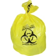 Heritage, Healthcare Printed Bags/Liners, 20-30 Gallon, 30x43, Low Density, 1.3 Mil, Yellow, 200 CT