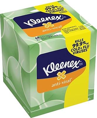 Kleenex® Anti-Viral Facial Tissues, 3-Ply, 27/Case