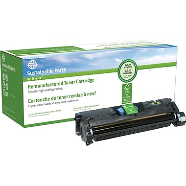 Sustainable Earth by Staples® Remanufactured Yellow Laser Toner Cartridge, Canon EP-87Y, (7430A005AA)