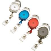 GBC® 3747498 Carabiner Badge Reel, Assorted, 4/Pack