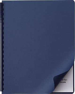 GBC Linen Weave Presentation Cover, Navy, 200 pieces