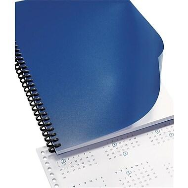 GBC® Solids Standard Presentation Covers, Navy, 8 1/2