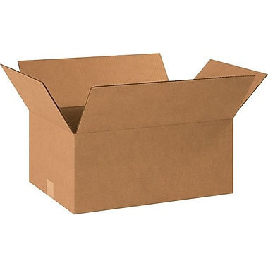 18.5''x12.5''x8'' Standard Corrugated Shipping Box, 200#/ECT, 25/Bundle (18128R)